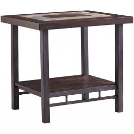 Gallivan Two-Tone Brown Rectangular End Table