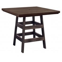 "Generation Chocolate 42"" Square Pub Table"