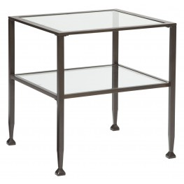 Tivion Blacks Rectangular End Table
