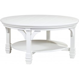Mintville White Round Cocktail Table