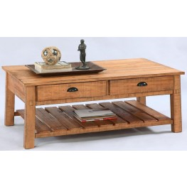 Willow Distressed Pine Rectangular Cocktail Table
