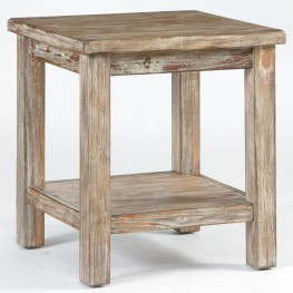 Vennilux Burnished Natural Chairside End Table