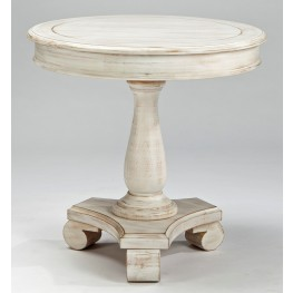 Mirimyn White Painted Round Accent Table