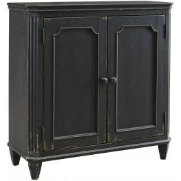 Mirimyn Antique Black Door Accent Cabinet