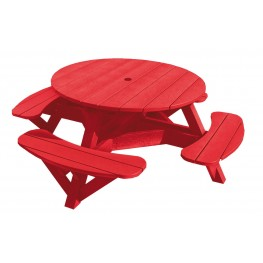 """Generations Red 51"""" Round Picnic Table"""