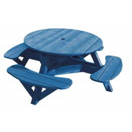 """Generations Blue 51"""" Round Picnic Table"""