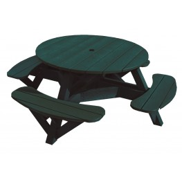 """Generations Green 51"""" Round Picnic Table"""