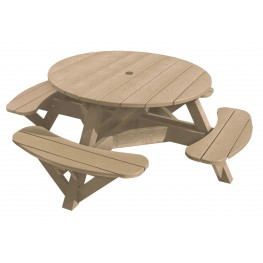 """Generations Beige 51"""" Round Picnic Table"""