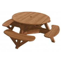 "Generations Cedar 51"" Round Picnic Table"