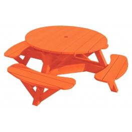 "Generations Orange 51"" Round Picnic Table"