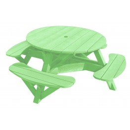 """Generations Lime Green 51"""" Round Picnic Table"""