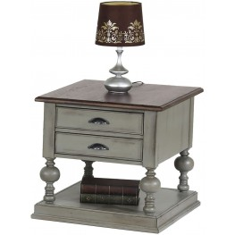 Colonnades Weathered Grey and Oak End Table