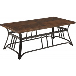Zanilly Two-Tone Rectangular Cocktail Table