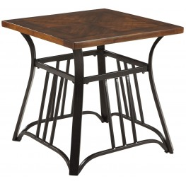 Zanilly Two-Tone Square End Table