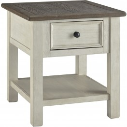 Bolanburg Weathered Gray Rectangular End Table