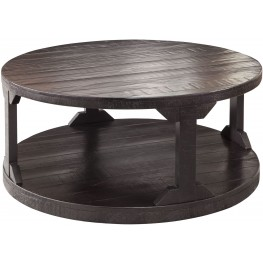 Rogness Rustic Brown Round Cocktail Table