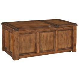 Tamonie Medium Brown Rectangular Lift Top Cocktail Table