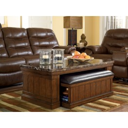 Merihill Cocktail Table with Ottoman 2 Piece Set