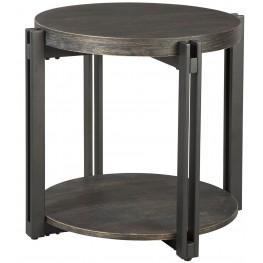 Winnieconi Black Round End Table