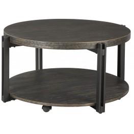 Winnieconi Black Round Cocktail Table