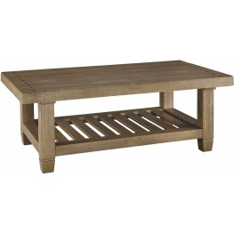 Trishley Weathered Gray Rectangular Cocktail Table