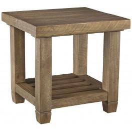 Trishley Weathered Gray Rectangular End Table