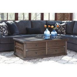 Zenfield Medium Brown Occasional Table Set