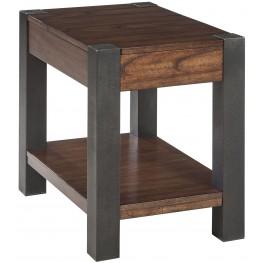 Heidiho Light Brown Chair Side End Table