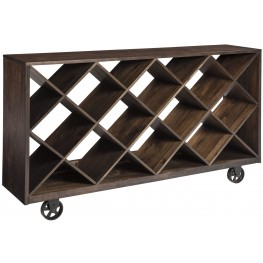 Starmore Brown Shelf Console Table