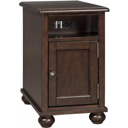 Barilanni Dark Brown Chairside End Table