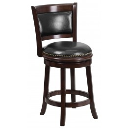 24Inch Cappuccino Black Swivel Counter Height Chair