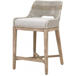 Wicker Natural Gray Tapestry Counter Stool