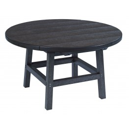 "Generations Black 32"" Round Leg Cocktail Table"