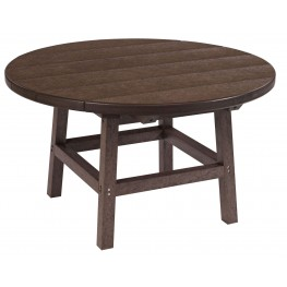 "Generations Chocolate 32"" Round Leg Cocktail Table"