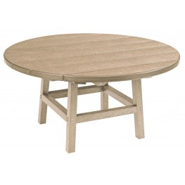 "Generations Beige 37"" Round Leg Cocktail Table"