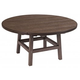 "Generations Chocolate 37"" Round Leg Cocktail Table"