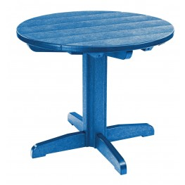 "Generations Blue 32"" Round Pedestal Dining Table"