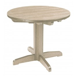 "Generations Beige 32"" Round Pedestal Dining Table"