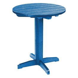 "Generations Blue 32"" Round Pub Height Pedestal Table"