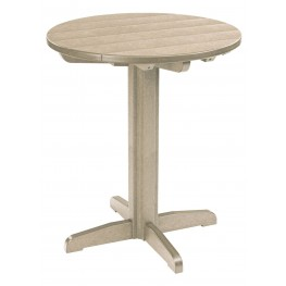 "Generations Beige 32"" Round Pub Height Pedestal Table"