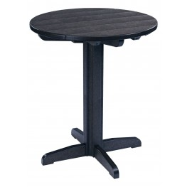 "Generations Black 32"" Round Pub Height Pedestal Table"