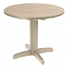 """Generations Beige 37"""" Round Pedestal Dining Table"""