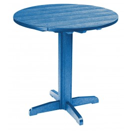 "Generations Blue 37"" Round Pub Height Pedestal Table"