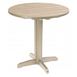 "Generations Beige 37"" Round Pub Height Pedestal Table"
