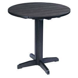 "Generations Black 37"" Round Pub Height Pedestal Table"