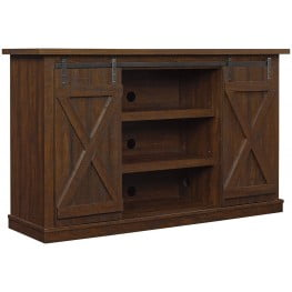 Bell'O Sawcut Espresso Cottonwood TV Stand