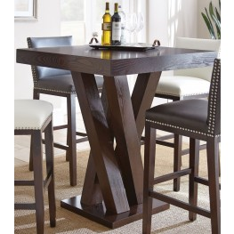 Tiffany Espresso Cherry Square Bar Table