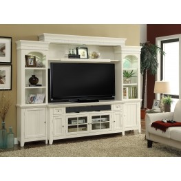 "Tidewater Vintage White 72"" Entertainment Wall"