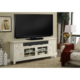 "Tidewater Vintage White Finish 62"" TV Console"
