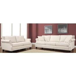 Camden Beige Linen Living Room Set